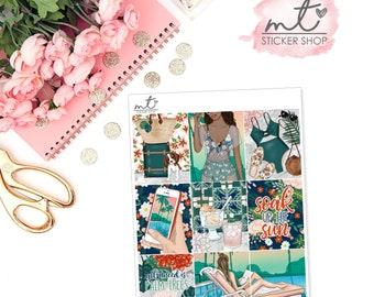 Palm Springs Full Boxes || Vertical || Planner Stickers || Erin Condren Life Planner