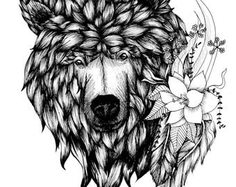 Beary Beautiful (Black and White)