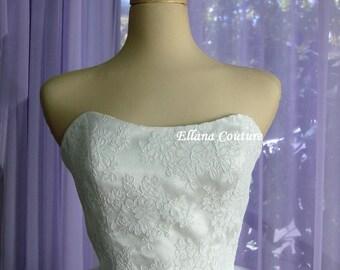 Sample SALE. Cindy - Vintage Inspired Tea Length Wedding Dress.