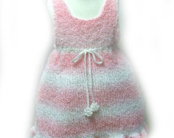Pink Jumper, Girl's Pink School Jumper, Knit Pink Jumper, Pink Jumper, School Dress