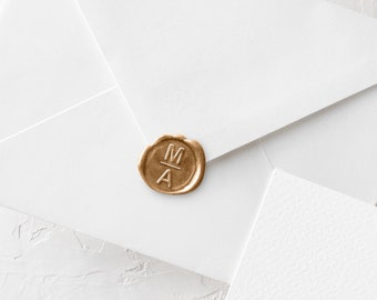 Custom Initials Wax Seal Stamp Kit - Wax Stamper For Wedding Invitations and Envelopes - Personalized Wax Stamping - Gift To Sister