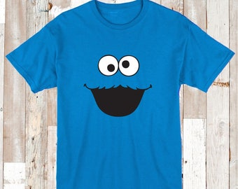 Cookie Monster Tee Tees T-Shirt Personalized Tees Sesame Street Shirt Baby Clothes Bibs and Tees, Cookie Monster Designs on T-Shirts, aa25
