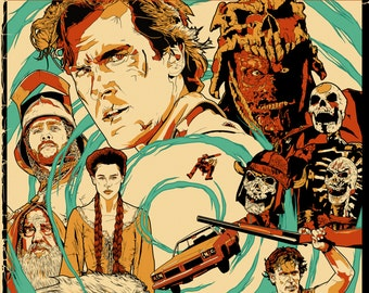 Army Of Darkness Screen Printed Poster