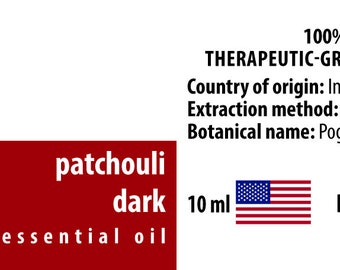 Patchouli Dark 100% Essential Oil from Indonesia 10ml