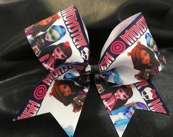 Monster high ribbon cheer bow