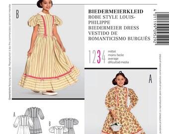BURDA COSTUME PATTERN / Girls Biedermeier Dress - Outfit / Sizes 7 to  14 Years / Halloween