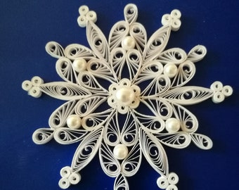 Snowflakes, Quilling snowflakes, Christmas ornament, Paper snowflake