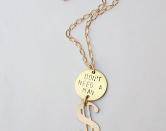 Don't Need a Man Necklace