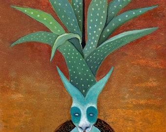Agave Rabbit, Print - Sarah Stone Art
