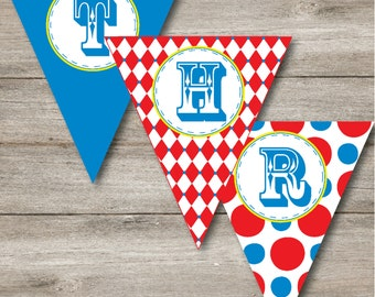 Carnival Party Pennant, Printable Carnival Party Banner, Carnival Party Bunting, Carnival Party Pennant to Print at Home, Instant Download