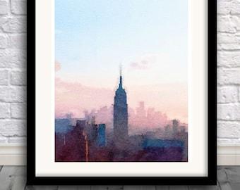 New York City Skyline, Art Print, big apple , New York , USA print, Manhattan,Pic no 11