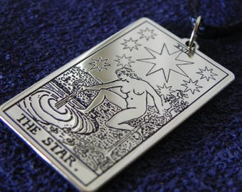 Pendant - Tarot Card The Star, Tarot 17th card