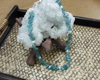 Apatite & Pearl Necklace