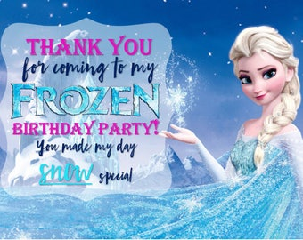 Frozen Birthday Thank you Card