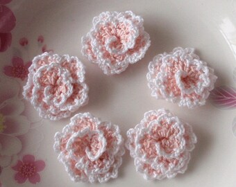 5 crochet fleurs (Roses) YH-130-02