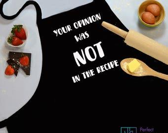 Baking Apron, Cooking Apron, Kitchen Apron, Cooking Gift, Chef Apron, Baking Gift, Black Apron, BBQ Apron, Custom Apron, Cotton Apron