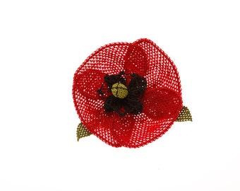 Stylish Poppy  Brooch