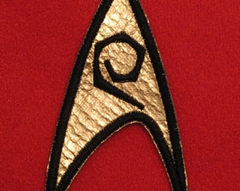 Star Trek TOS Original Series Uniform Insignia Patch - Engineering / Services USS Enterprise
