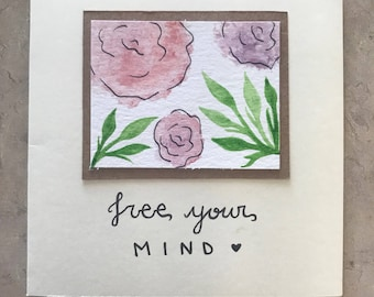Free your mind // greeting card