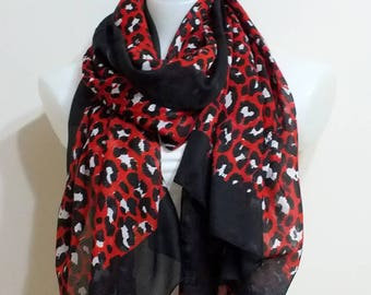Oversize Cotton scarf Summer Pareo Cotton scarf Black Red scarf Spring Scarf Women Fashion accessories  Mothers Day gift Fashion