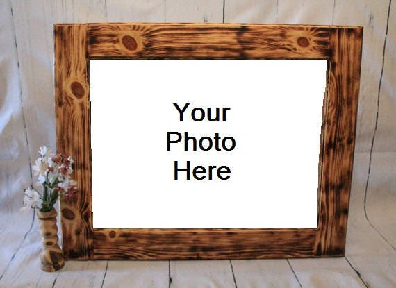 handmade wood picture frames custom burnt wood frames wooden picture frame rustic wood 4748