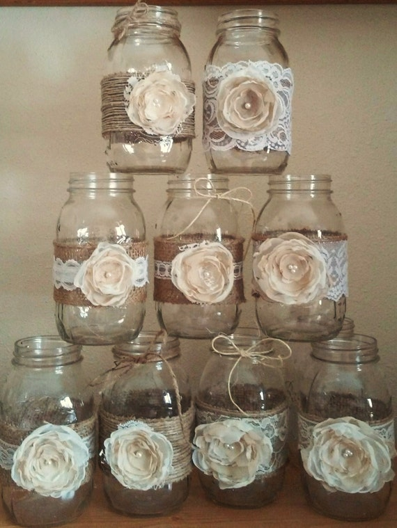 mason jar centerpieces rustic mason jars wedding