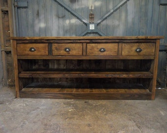 Large Solid Wood Sideboard Reclaimed Timber