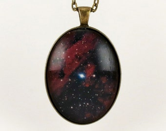 Universe Galaxy Pendant, Nebula Necklace, Cosmic Jewelry