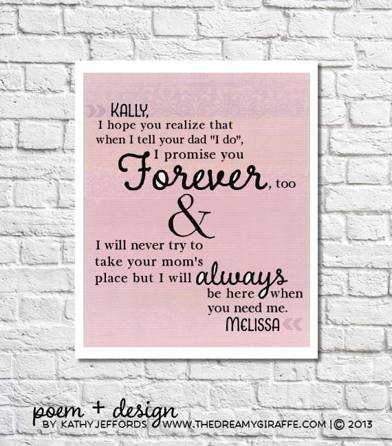 Stepdaughter Gift Personalized Letter To Stepdaughter Wedding