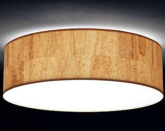 Ceiling lamp, D.40 cm, cork