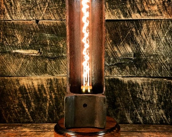 Industrial Salvage Accent Lamp with Touch Dimmer - Table Lamp Desk Lamp Industrial Lighting