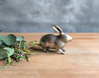 Vintage Silver Tone Rabbit Figurine