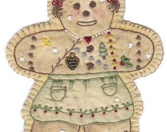 Vintage Christmas Ornament Gingerbread Girl