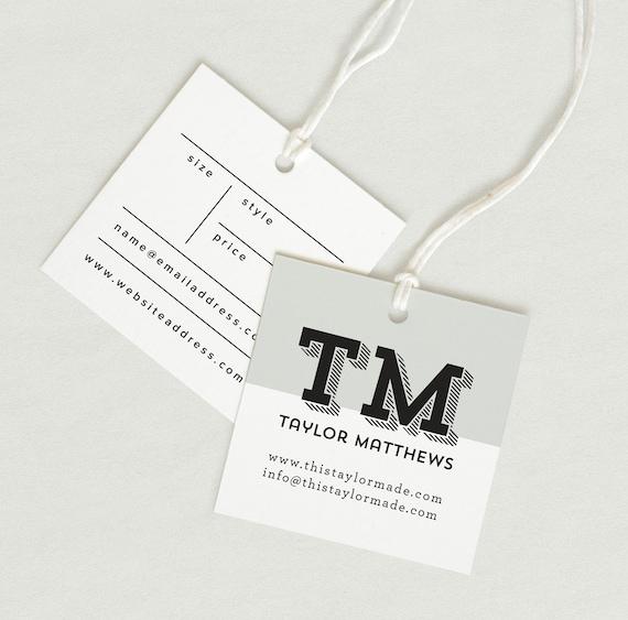 Printed Fabric Label Price Tag Hang Tag Custom Clothing