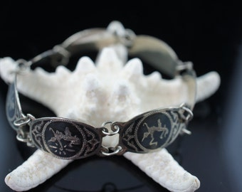Vintage Art Deco Sterling silver  bracelet  Modernist  Siam Sterling Silver Bracelet Sterling Silver Bracelet 925 q71
