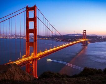 Golden Gate Bridge - Marin County, CA - 11x14