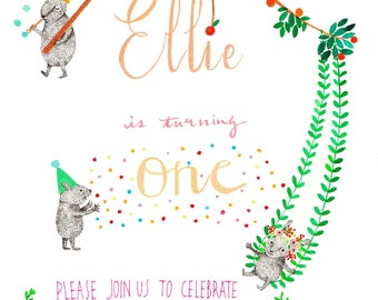 Customised illustration, bespoke artworks for nursery, children's deco, birth announcement cards, book illustrations.