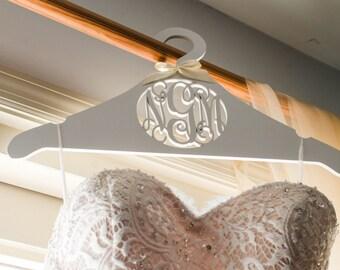 Wedding Dress Hanger - Personalized Bride's Hanger - Monogram Hanger For The Bride - Bridesmaids Gift