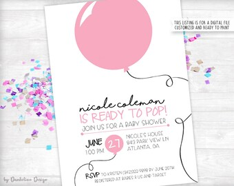 Ready to Pop Baby Shower Invitation Printable