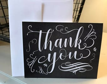 Thank You Notes, Set of 10, Blank Inside