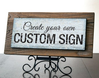 Custom Signs with Rustic Wood. Rustic Signs. Business Signs. Rustic Wedding Decor. Restaurant Sign. Farmhouse Decor. Personalized Gift. 14x7