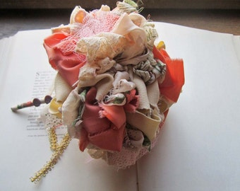 Vintage Fabric Flowers * Alternative Bouquets * Bridal Pommery