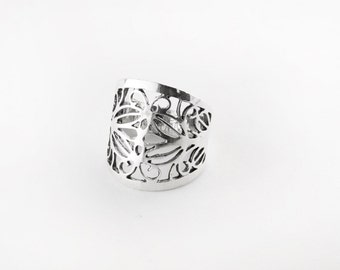 Chunky Filigree Sterling Silver Ring