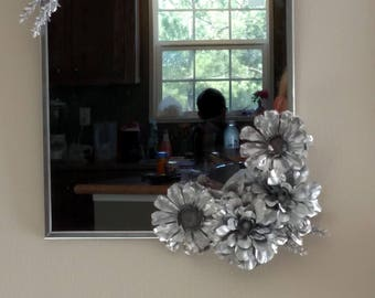 Painted Floral Mirror