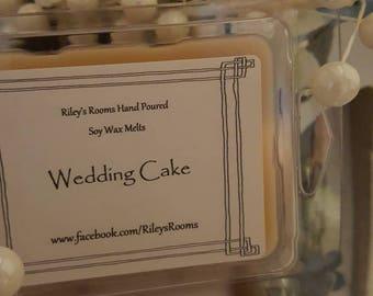 Wedding Cake Soy Wax Melts - Scented Wax- Housewarming Gift - wedding Cake Candle