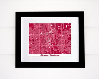 University of Oklahoma Map, Norman Map, Oklahoma Map, More colors!!
