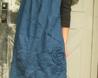 Rose Scrunchy Smock Dress