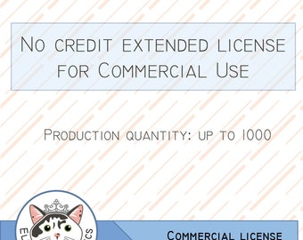 No Credit Extended License for Commercial Use (Single Clip Art Set)