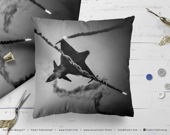 Airplane Pillow, Airplane Cushion, Throw Pillow, Pilot Gifts, Home Decor, Aircraft Pillow Case, Cover, Bedding, Hungary, Saab JAS-39C Gripen