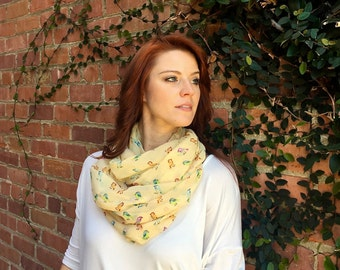 Put A Bird On It! Sheer Infinity Scarf